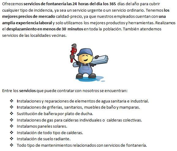 Servicios de fontanería de fontaneros La Robla 365 días económicos